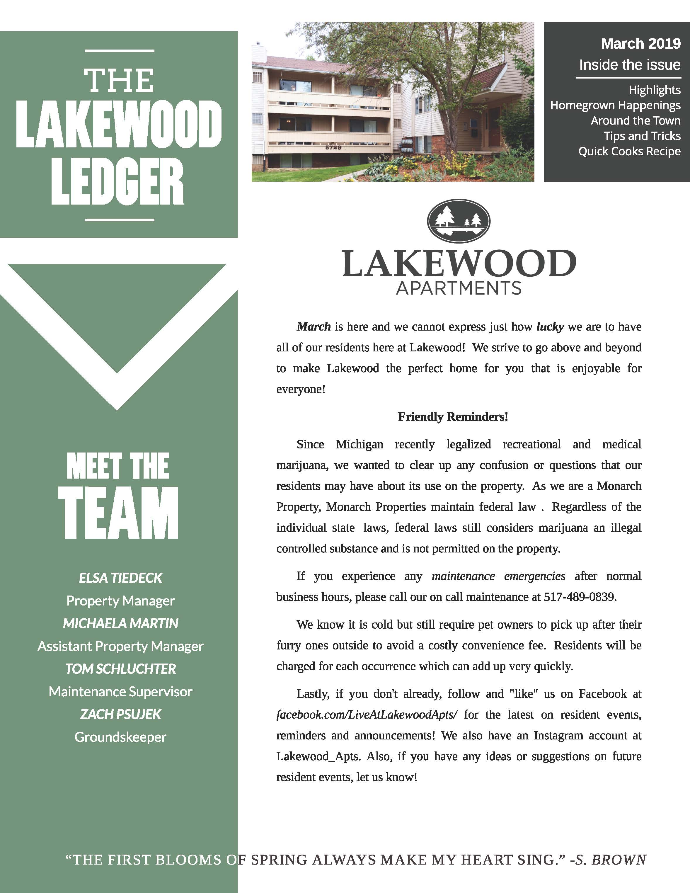 The Lakewood Apartments munity