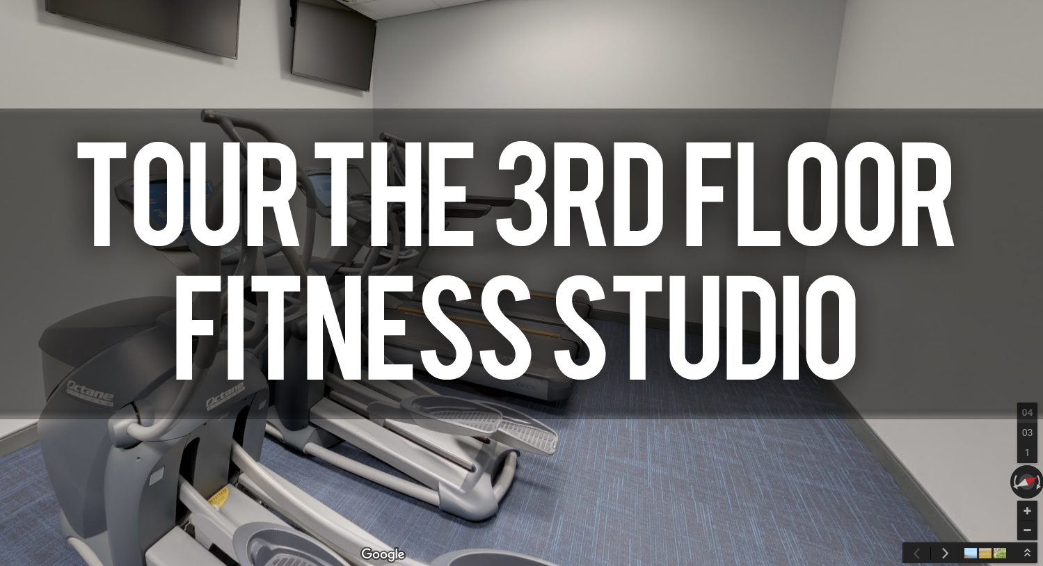 Virtual Tour of Fitness Studio Workout Room at Venue Tower
