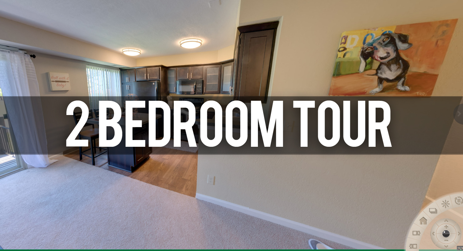 Virtual Tour of 2 Bedroom Floor Plan at Glenwood Apartments in East Lansing, MI
