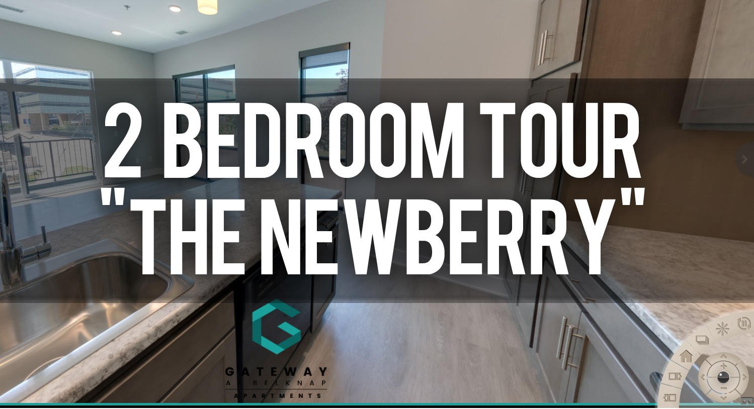 Virtual Tour Gateway at Belknap Apartments 2 bedroom floorplan The Newberry