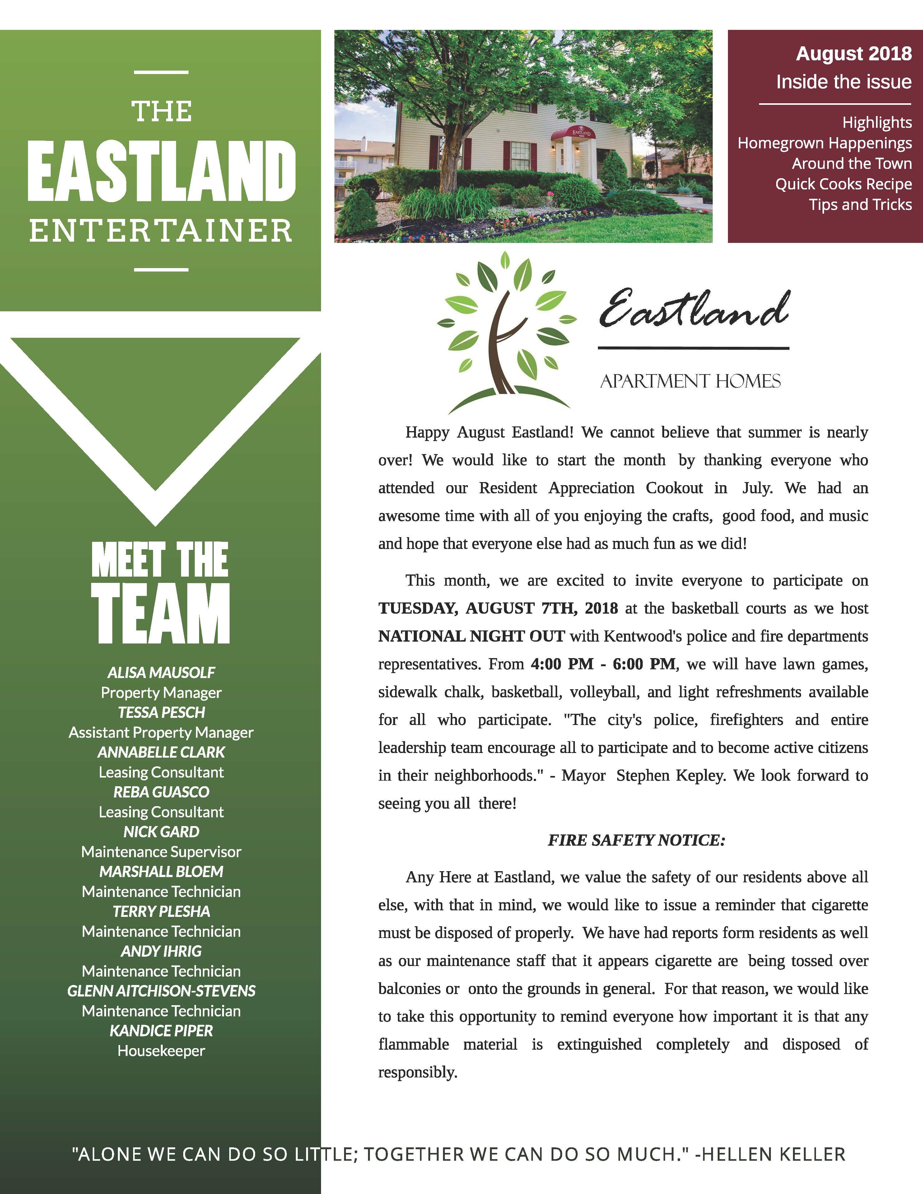 The Eastland Apartments Community