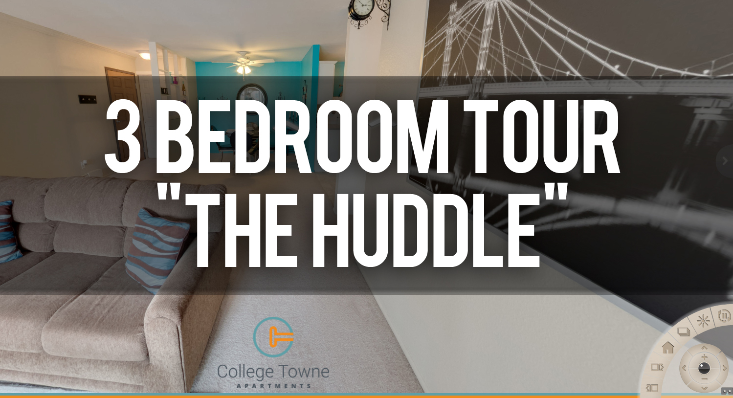 Take a Virtual Tour of the Huddle 3 Bedroom Towne Square Apartments