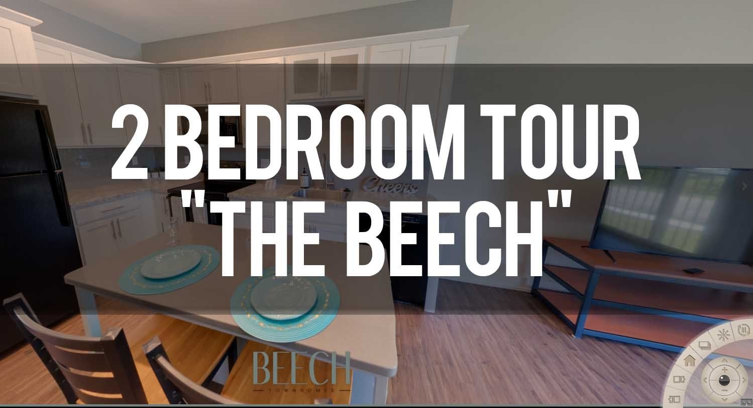 Virtual Tour of 2 Bedroom at Beech Townhomes