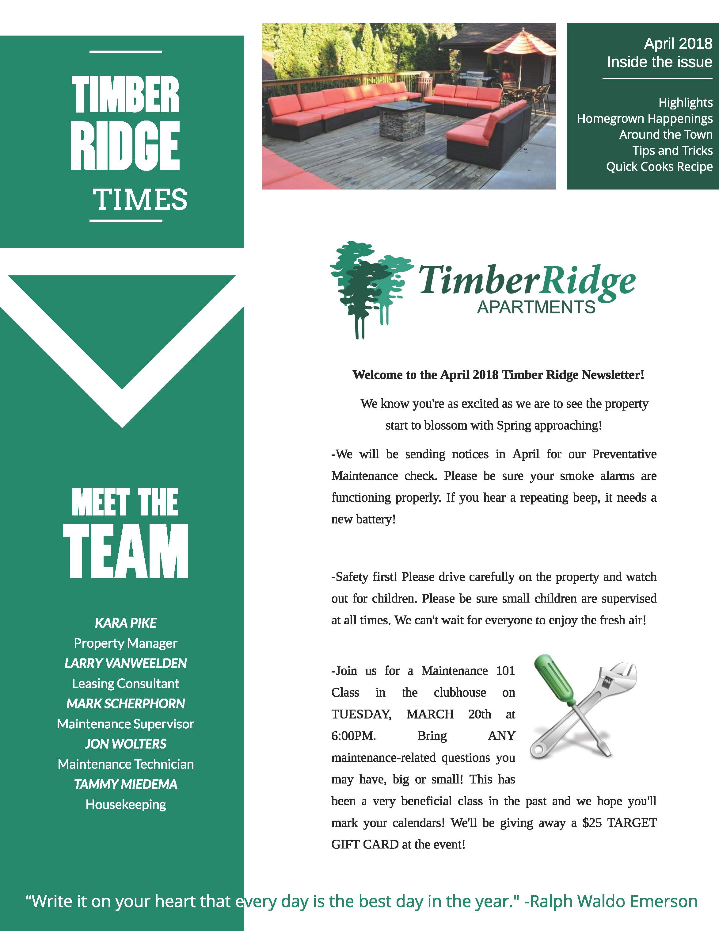 The Timber Ridge Apartments Community