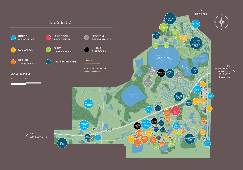 Pixon apartments in Lake Nona Community map