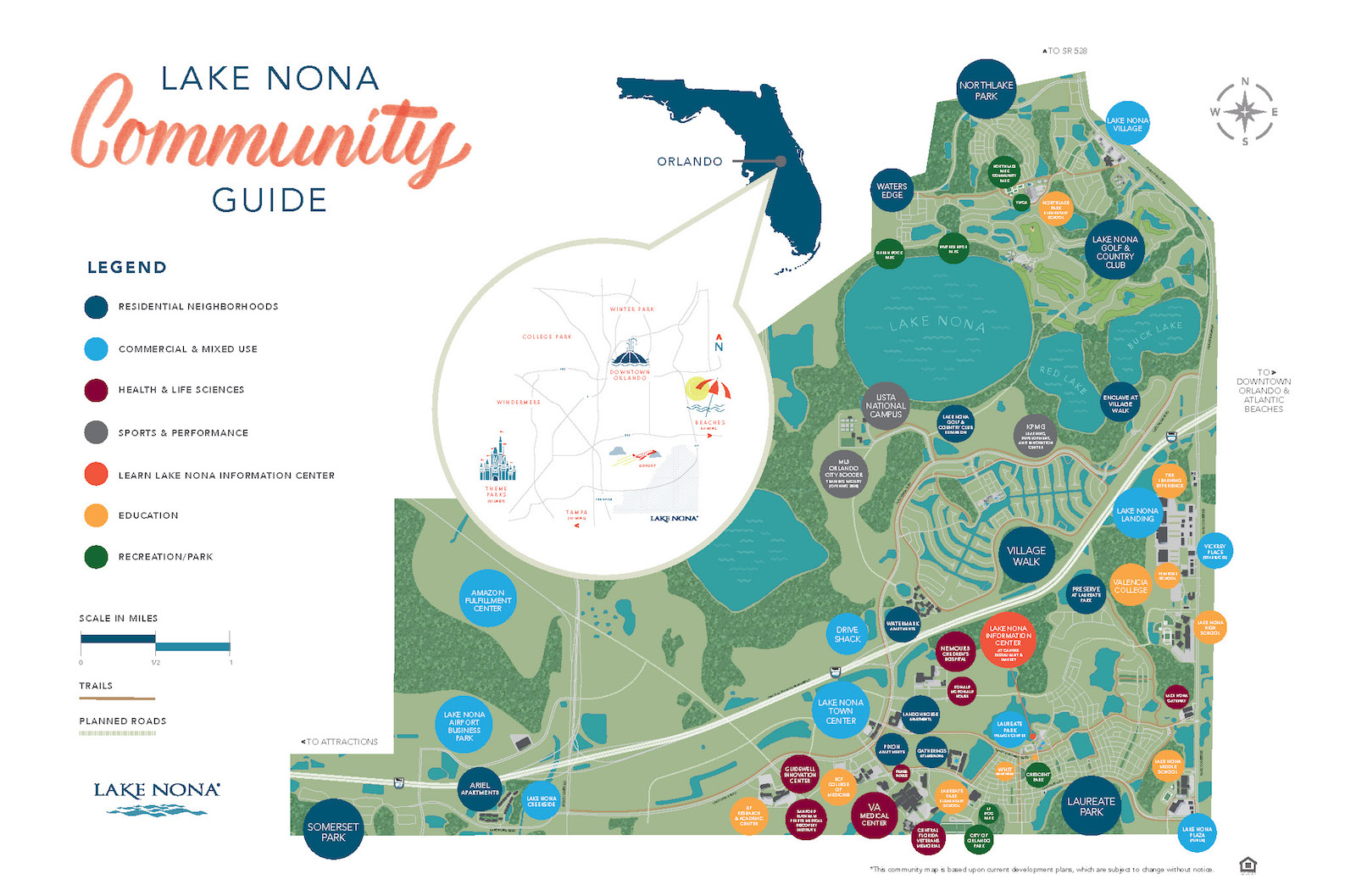 Lake Nona Water Mark apartments in Orlando's Lake Nona community map