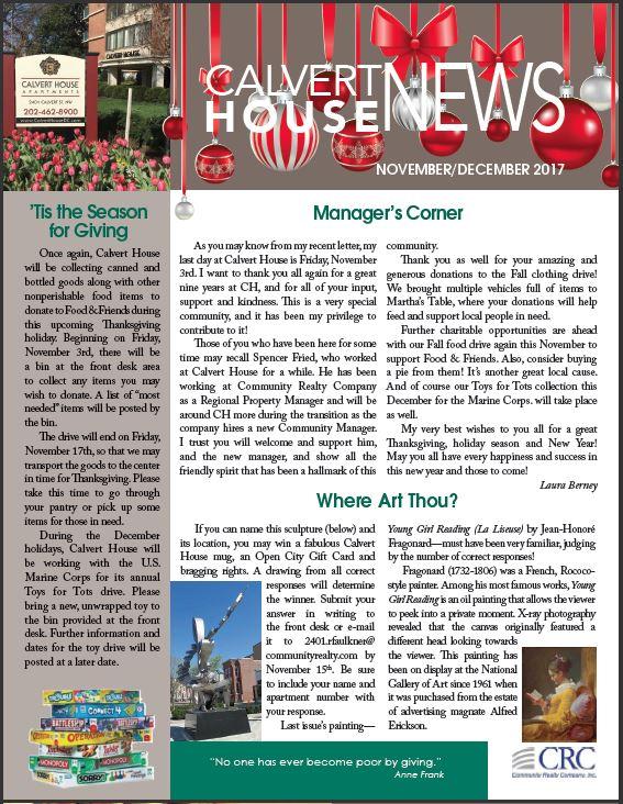 November/December 2017 Newsletter