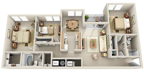 Good Governor Floorplan   3 Bedroom / 2 Bath Apartment At The Residences At The  Manor Ideas