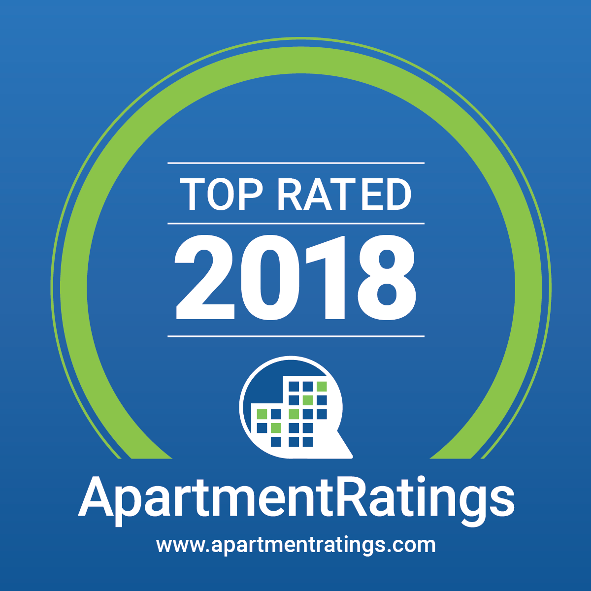 Apartmentratings.com Top Rated Community 2018