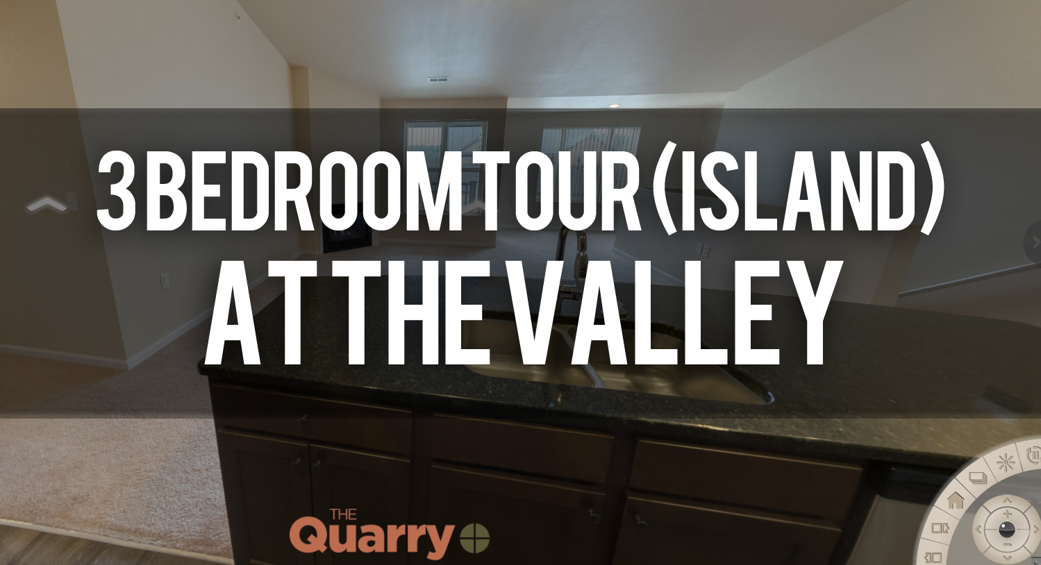 Virtual Tour of 3 Bedroom Island Floorplan at Quarry Apartments