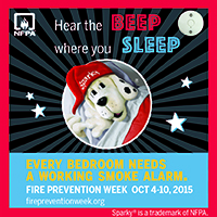 Hear the BEEP where you SLEEP - Fire Prevention Week