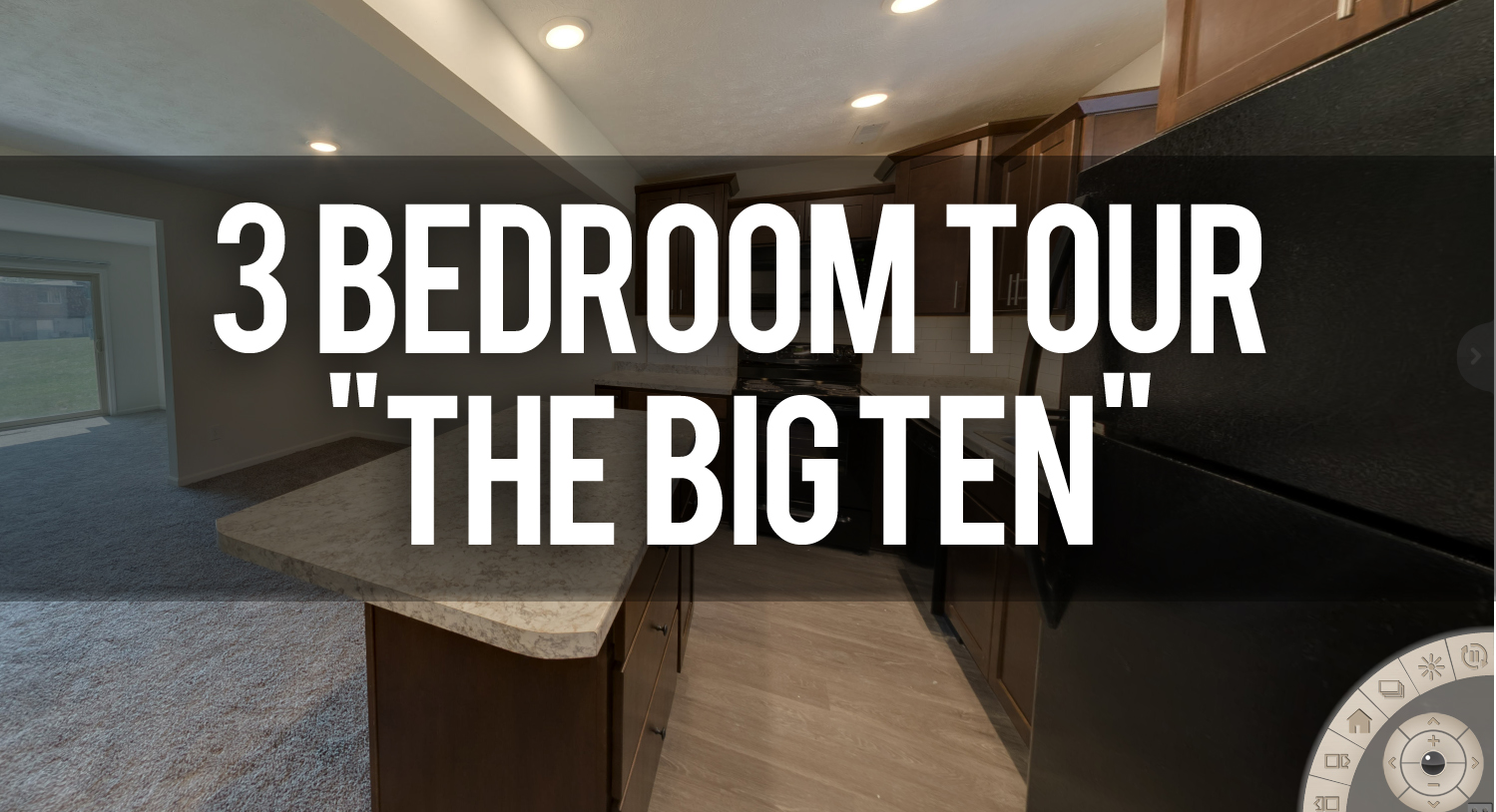 Take a Virtual Tour of the Big Ten 3 Bedroom Towne Square Apartments