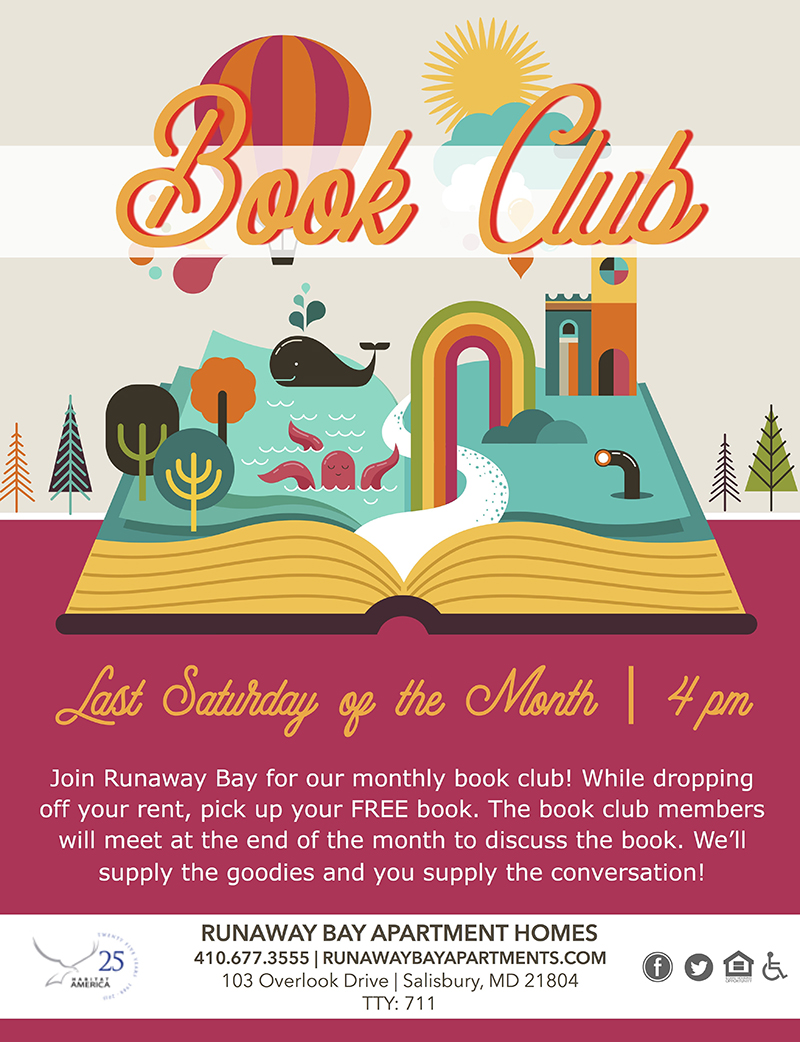 Book Club- Last Saturday of the Month at 4:00 pm