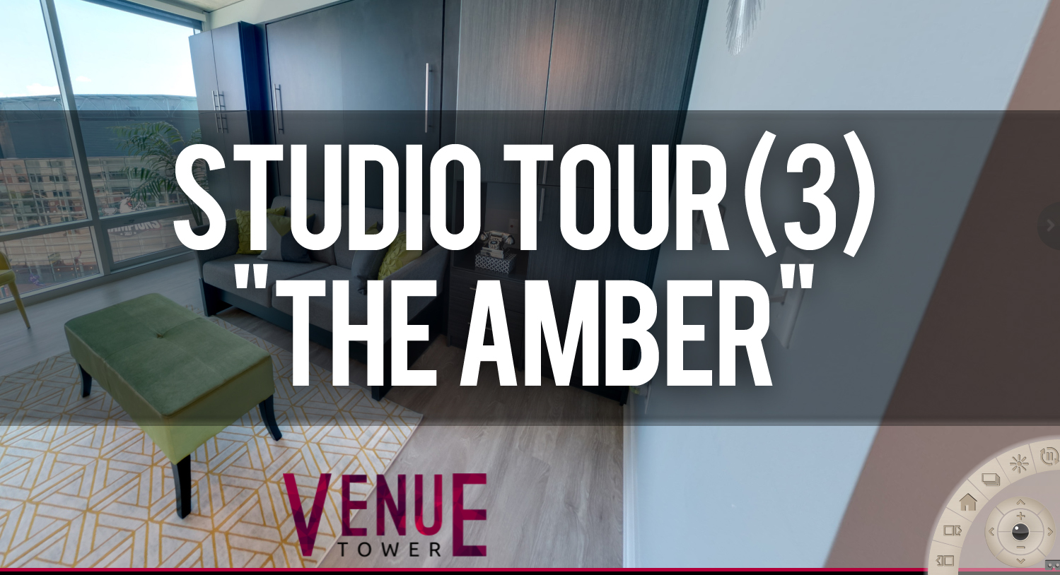 Virtual Tour Venue Tower Apartments Studio Floorplan The Amber