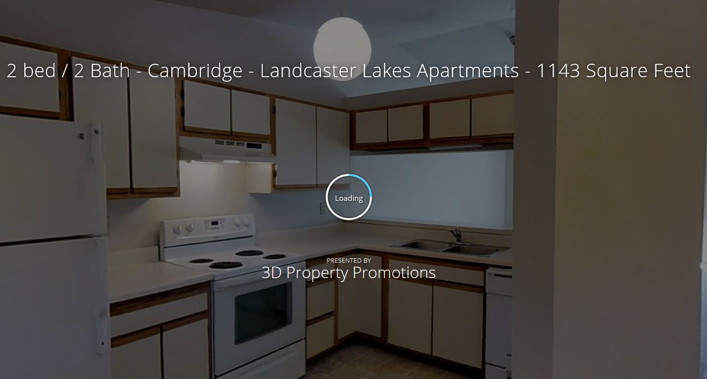 3D Tour of Lancaster Lakes 2 Bedroom Apartment Home