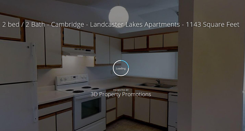 3D Tour of Lancaster Lakes 2 Bedroom Apartment Home