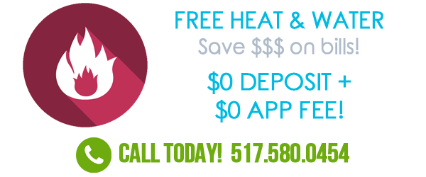 Free heat, water, cable and internet for limited time